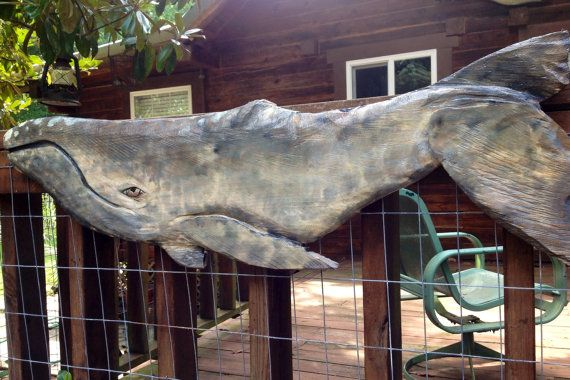Baleine grise 39 tronçonneuse bois baleine par oceanarts10 sur Etsy