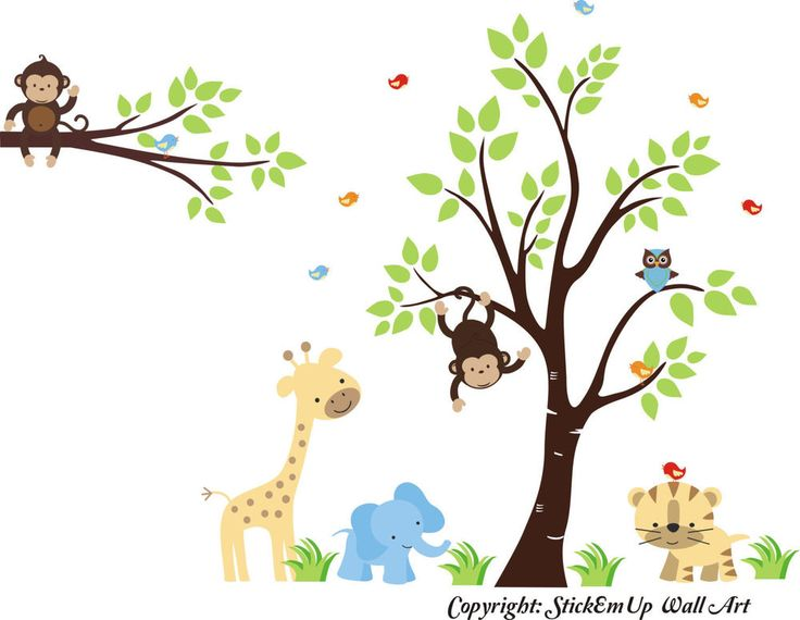 Nursery Wall Decals   Wall Decals Nursery   Safari Animal Stickers   Baby  Stuff Part 77