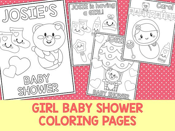 Girl Baby Shower Bear Coloring Book Pages The Crayon Crowd