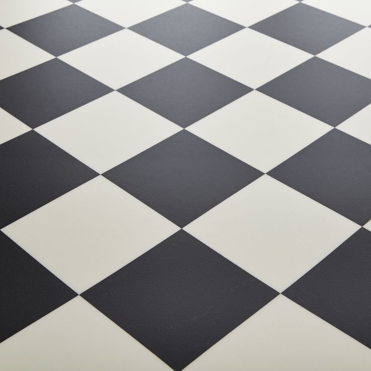 Black And White Checkered Vinyl Flooring Kitchen Tile
