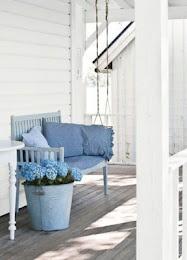 Country Style ChicBlue Hydrangea, Country Porches, Beach House, Verandas, Summer House, White Porches, Gardens, Front Porches, Hydrangeas
