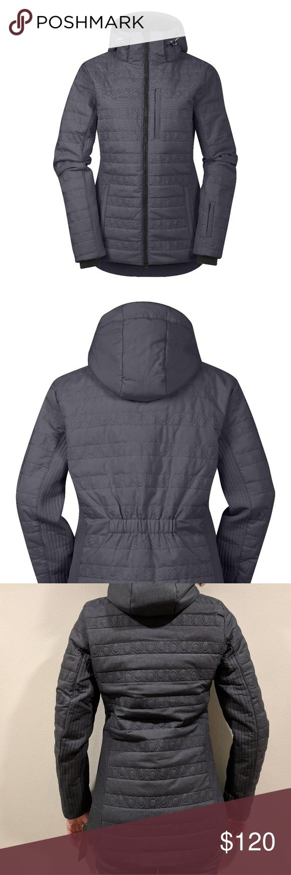 """Kerrits EQ Insulator Jacket in Ebony """"Designed by women who ride through the bone-chilling damp of NW winters & truly appreciate smart insulation, this jacket offers an entirely new category of warmth for Kerrits. It features slimming elastic at the waist, but don't let flattering lines fool you—this is a puffy with equestrian attitude & a durable exterior made the stand up to horse life.""""  * Quilted with technical insulation * Tall stand up collar * Large storm hood with drawstrings…"""