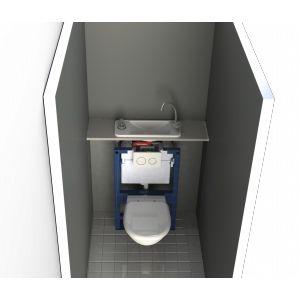 Avoir de quoi se laver les mains directement dans les WC me semble indispensable. Grâce au Wici concept c'est maintenant possible même dans les WC les plus exigus.