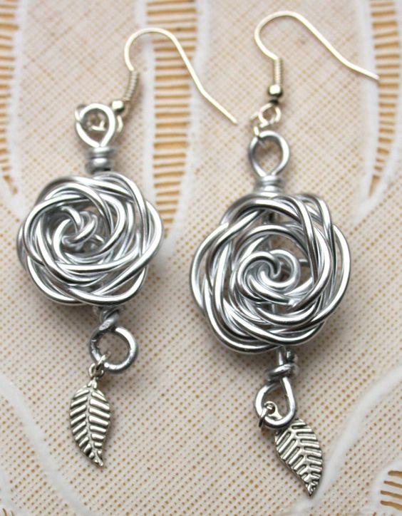 wire ring earring oorbel jewelery: