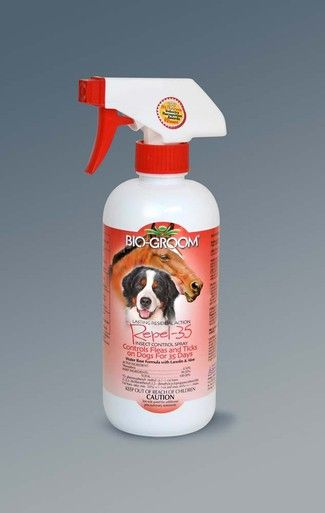 Bio-Groom Repel-35 Water Based Flea and Tick Insect Control Spray for Dogs 16oz