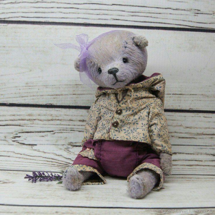 Купить Лаванда мишка Тедди - бледно-сиреневый, нежность, мишка, мишка в одежке, тедди мишка