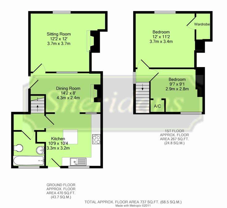 Riverside cottage floorplan, Walsham le Willows