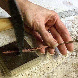 Love the meditative rhythm of hand forging metal. #behindthescenes #jewelrymaking #jewelry #designer #onmybench #studio #tools #metalsmith #metalsmithing #forging #hammer
