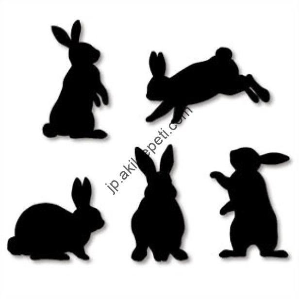 壁の装飾 ウサギ 家と生活 ペーパークラフト ウサギ シルエット