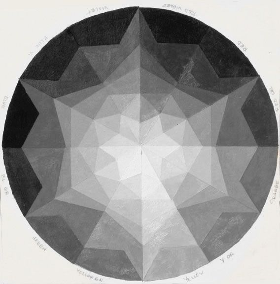 greyscale color wheel - possible tattoo
