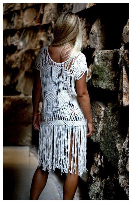 macramé dress - dirtbin designs