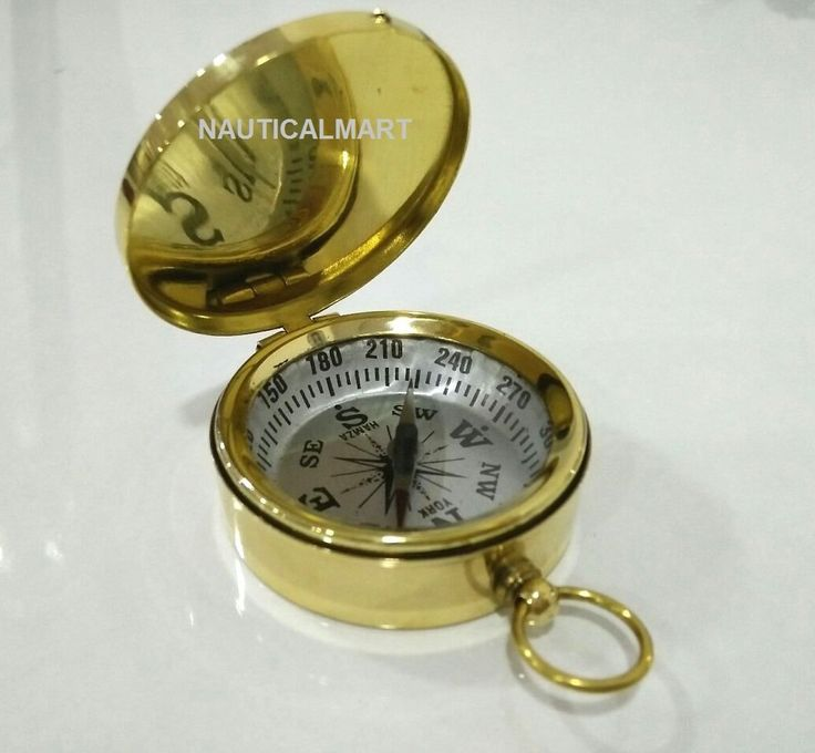 Dalvey Vintage Brass Pocket Compass - Christmas Gift By Nauticalmart: Amazon.co.uk: Office Products