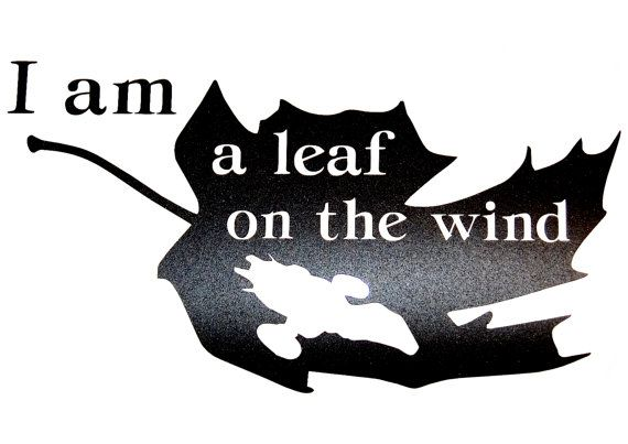 Firefly/Serenity Themed I'm a Leaf on the Wind Vinyl Decal