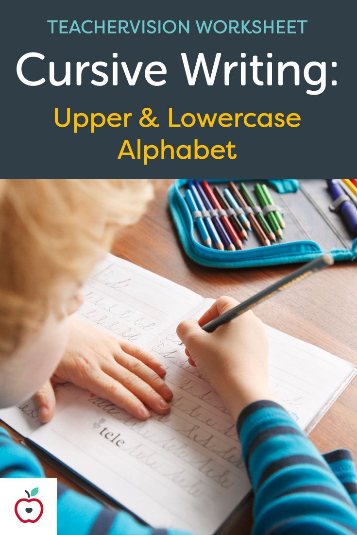 This writing worksheet, featuring both traditional cursive uppercase and lowercase letters, will help children to practice writing the alphabet in cursive. Lowercase letters are featured on the first page and uppercase letters are on the second page. Each letter includes directional prompts and is arrayed on a standard ruled line, including mid-line, for proper height and placement. Can be used for print or with an iPad.