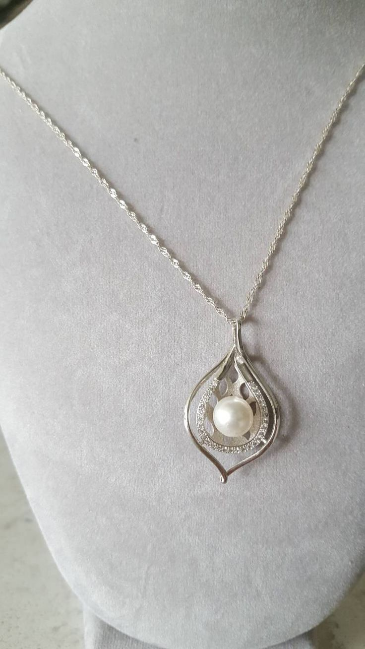 Exquisite sterling Silver and Pearl Pendant make for an elegant, beautiful and memorable gift! Buy now on Etsy!!