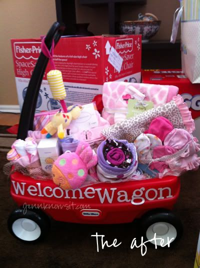 """Welcome Wagon"" for new baby! This is friggin' adorable!"