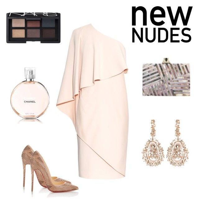 """New nudes "" by adriana-elena-pusco on Polyvore featuring Givenchy, Christian Louboutin, Suzanne Kalan, Kelly Wearstler and NARS Cosmetics"
