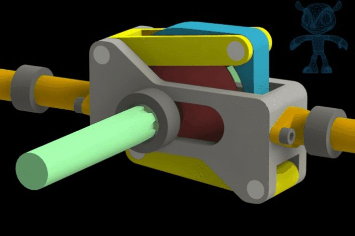 Reciprocating Gear Mechanism : Mechanism for heavy loaded reciprocating pumps