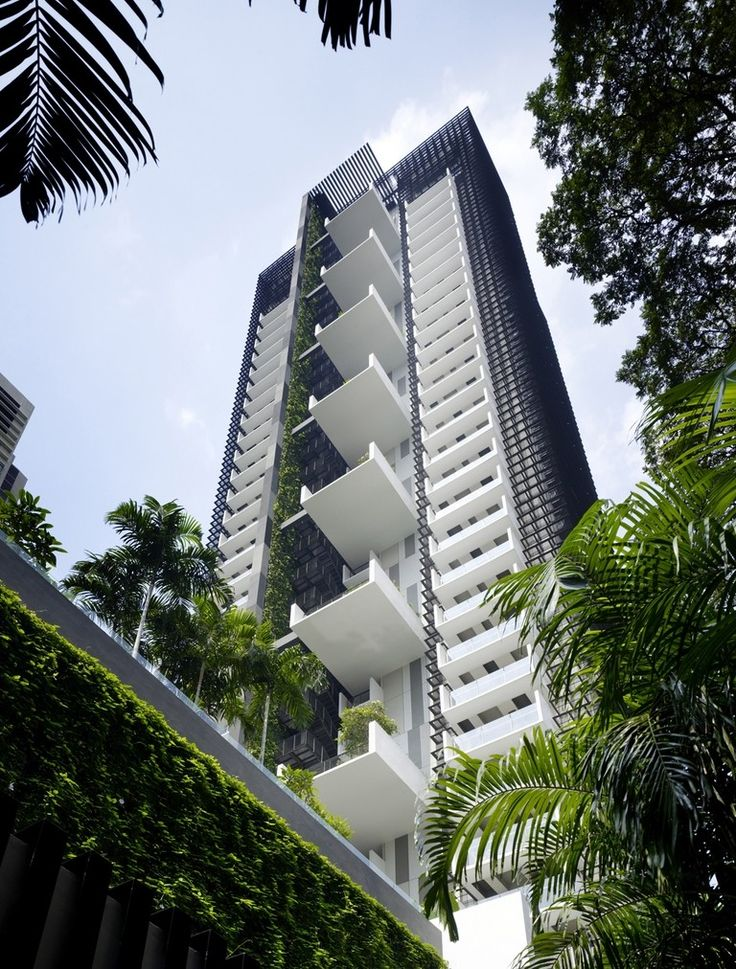 The Newton Suites residential tower in Singapore_View of South Elevation
