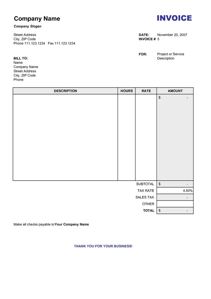 25 best Carpenter Invoice Templates images on Pinterest - blank invoice template doc