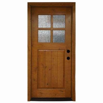 Luxury 4 Lite Wood Entry Door