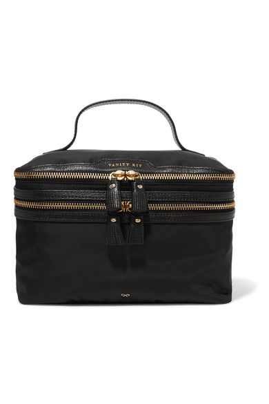 ANYA HINDMARCH Vanity Kit leather-trimmed cosmetics case. #anyahindmarch #cosmetics cases