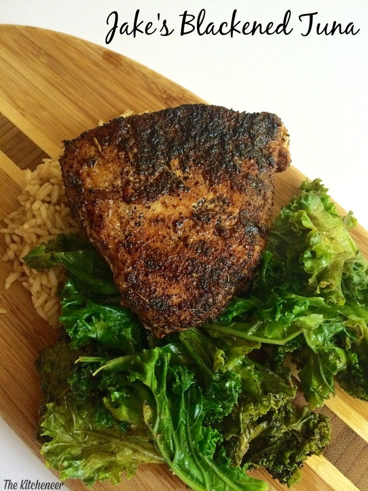 Jake's Blackened Tuna | http://www.thekitcheneer.com/2014/09/24/jakes-blackened-tuna/