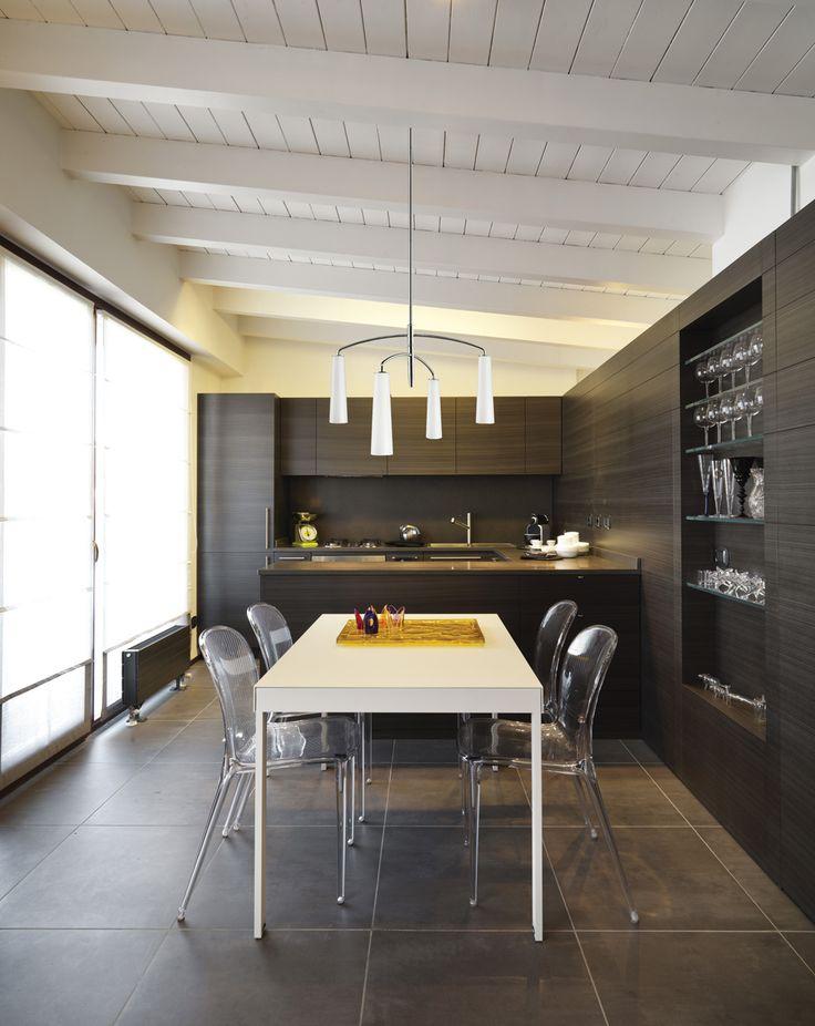 #Salleàmanger #transitionnelle avec béton. #Transitional #diningroom with #concrete.