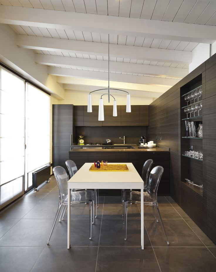 #Salleamanger de style #contemporain avec #suspendu. / #Contemporary #diningroom with #pendant.