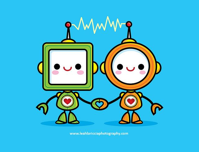 Kawaii Robots in Love by Jerrod Maruyama, via Flickr