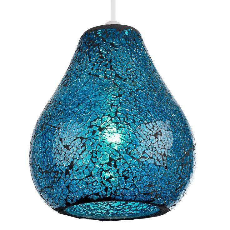 Mosaic turquoise pendant light. £32.99  http://www.worldstores.co.uk/p/Endon_Lighting_Audley_Blue_Mosaic_Non_Electric_Pendant.htm