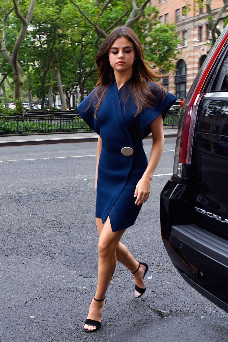 2017 05 fashion jersey dress - Selena Gomez Selenagomez Leggy In Mini Dress Manhattan 05 06 2017 Http