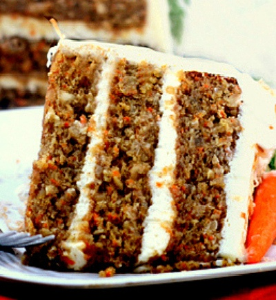 Super Moist Banana Carrot Cake with Cream of Coconut - Cream Cheese Frosting