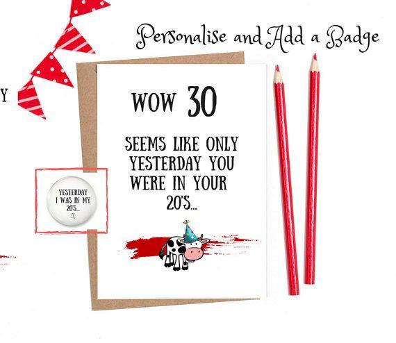 30th Funny Birthday Card 30th Birthday Funny 30th Birthday Etsy 30th Birthday Funny Funny Birthday Cards Funny 30th Birthday Cards