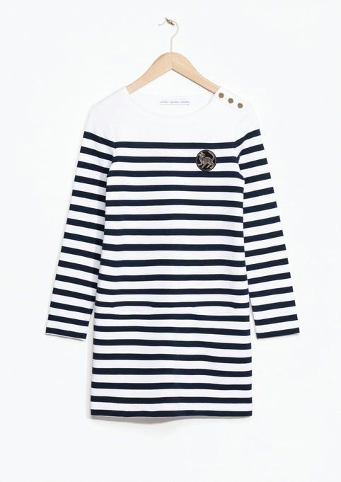 &Other Stories striped sweatshirt dress