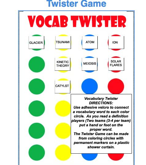 I used this with math vocabulary terms and they loved it! - Its a fun and interactive way for students to practice their new words.