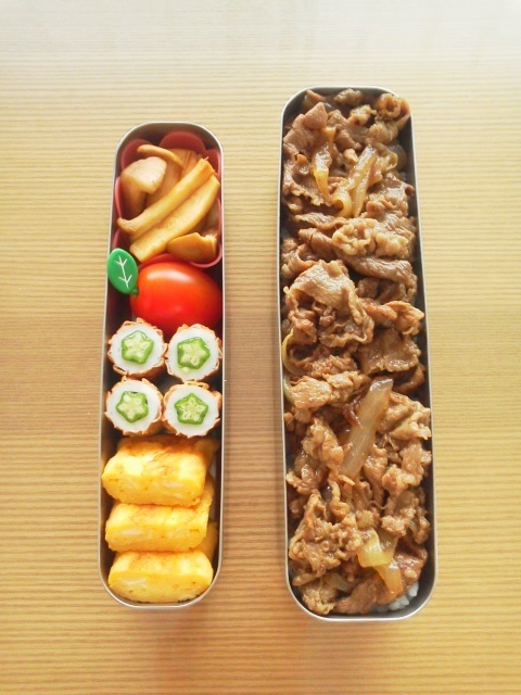 Gyudon, Japanese Beef Rice Bowl Bento Lunch © chie.ko|牛丼弁当