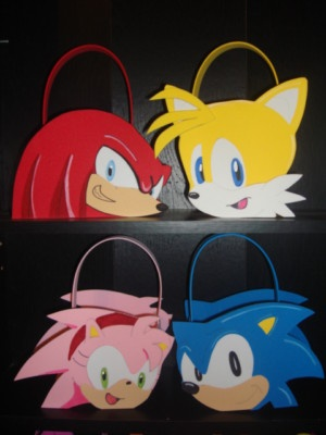 Sonic the Hedgehog and Amy party bags favors