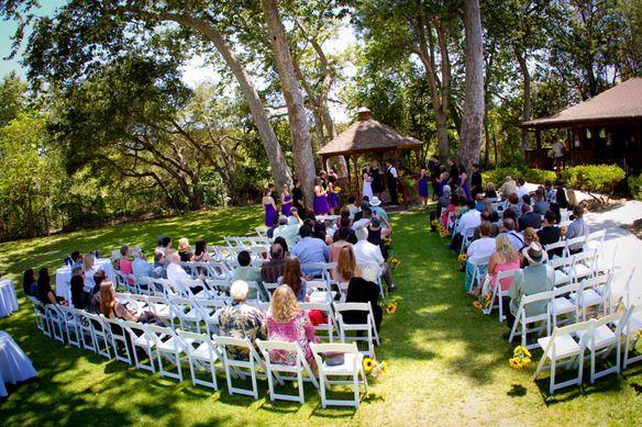 An Outdoor Wedding Ceremony At London S Hunt Club: Beautiful Santa Barbara Lion's Club Wedding Ceremony By