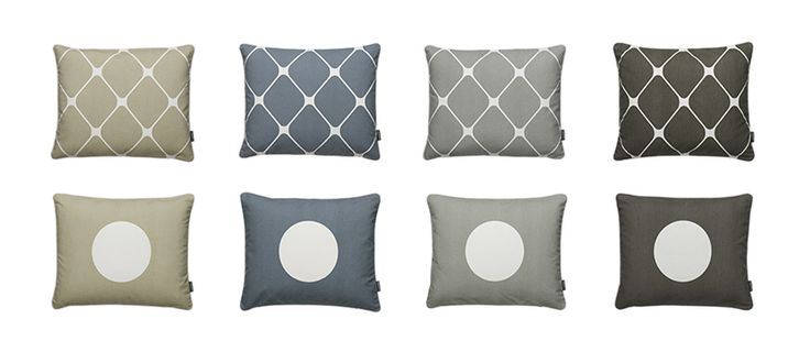NEW AW2015! REX and VERA cotton cushion in seagrass, storm, warm grey and charcoal. Pappelina