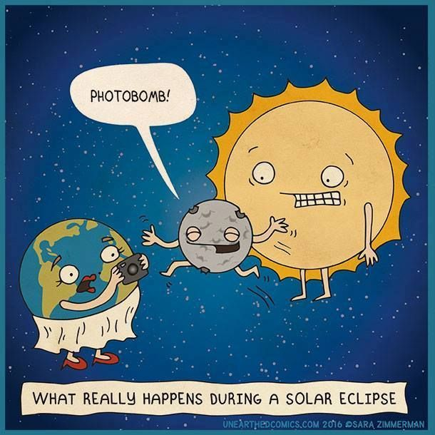 What really happens during a solar eclipse #lunarphotobomb #joke
