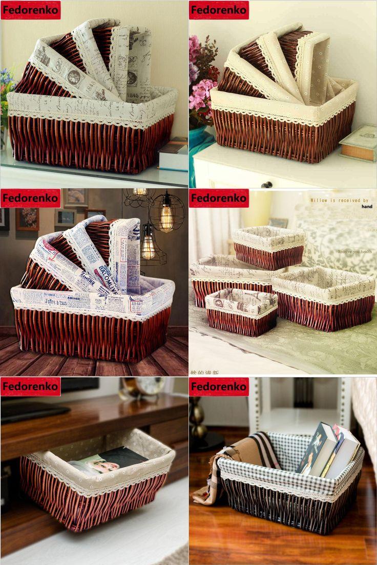 [Visit to Buy] Wicker Woven storage baskets small large snacks Sundries laundry basket easter cesto organizador wholesale cesto de roupa suja #Advertisement