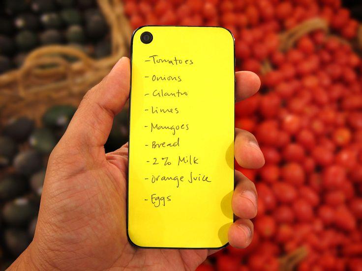 Handig! Schrijven op de achterkant van je iPhone