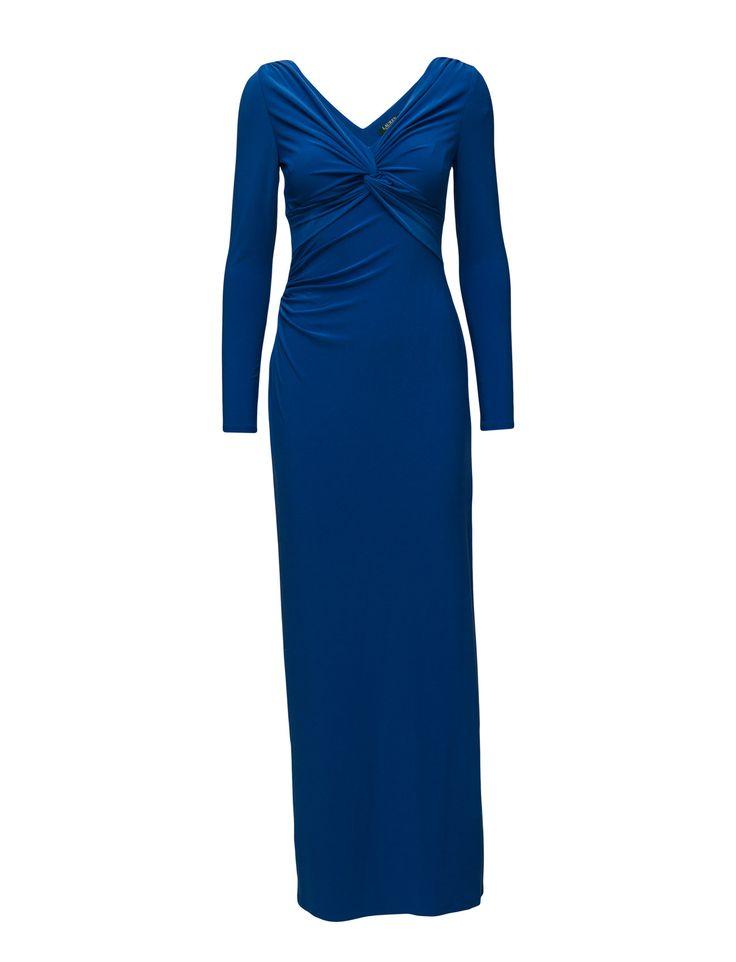 Charmetta - Jersey Gown (Florentine Blue) (229 €) - Lauren Ralph Lauren | Boozt.com