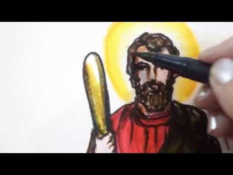 Saint Timothy Patron of Healing The Stomach Live Drawing & Prayer