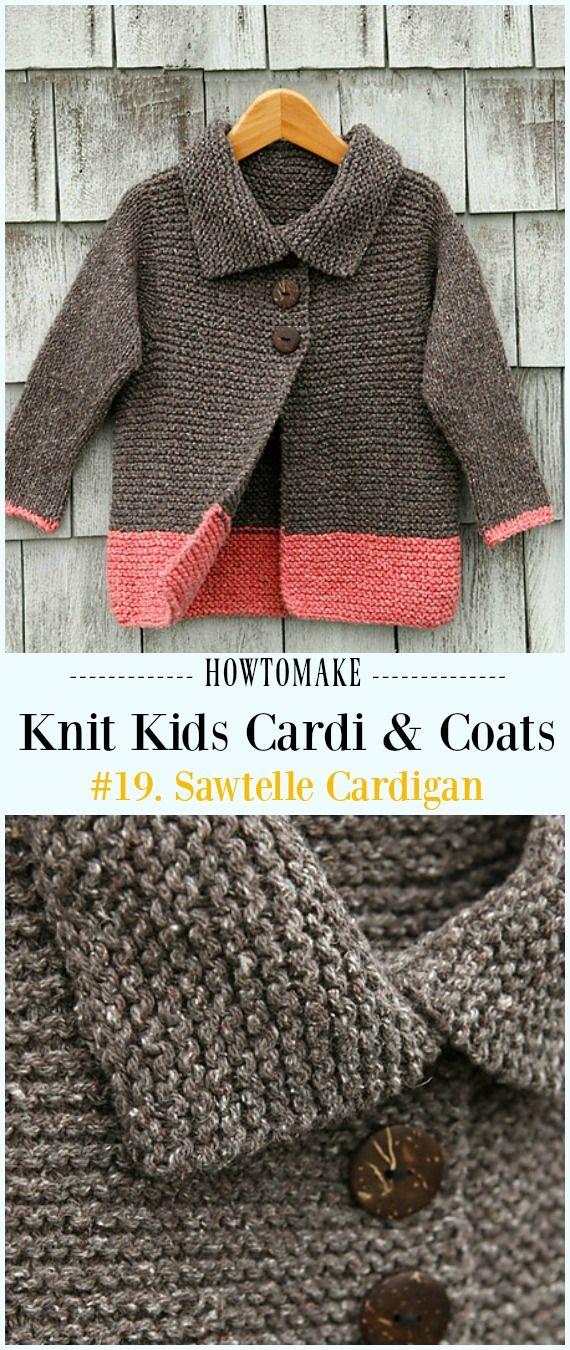 Kids Cardigan Sweater Free Knitting Patterns Tejido Pinterest
