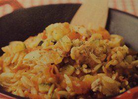 Kip met Griekse pasta
