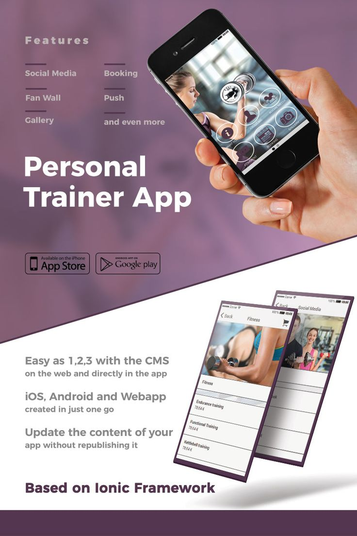 personal trainer appointment app template fit o matic