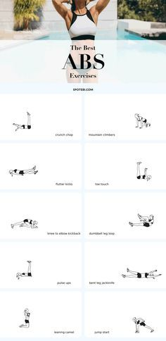 The best ab exercises for toning your midsection and sculpting the abdominal wall! Ready to really sculpt your abs? To get that flat, tight tummy you've been dreaming about you need to train both the superficial muscles of the abdominal wall and also the deep muscle layers. Ensure the best results and get that sexy stomach by challenging your muscles with these 10 super effective ab-toning moves!