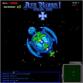 Azul Baronis - Play Azul Baronis game online. (epsilon, zero, Ship, Space, destroyer, shooter, Action, good music, top down, Fighter, best space game).